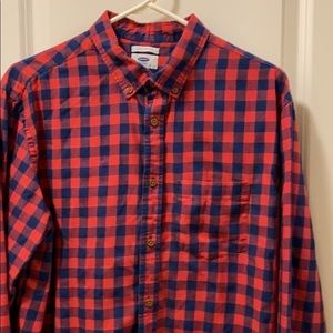 Old Navy checkered button down shirt